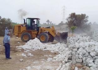 إزالة 85 حالة تعدِ على أرض زراعية بقرى مركز ديرمواس في المنيا