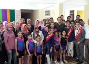 """وكيل """"التعليم بشمال سيناء"""" تفتتح قسم رعاية الموهوبين بمدرسة أبوسلمة"""