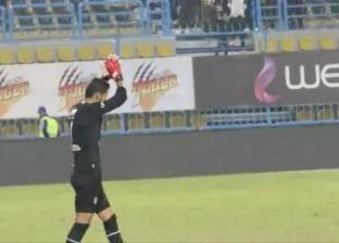 جمهور الأهلي يهتف لشريف إكرامي بعد مباراة الإنتاج الحربي