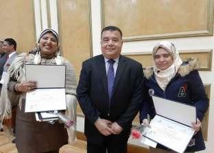 رئيس جهاز التعمير يكرم مهندستين مثاليتين من قطاع سيناء