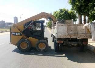 رفع 20 طن مخلفات وقمامة من شوارع مركز دارالسلام بسوهاج