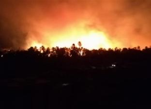 تشغيل آبار الري لتعزيز وحدات الإطفاء وعربات نقل المياه بحريق الراشدة