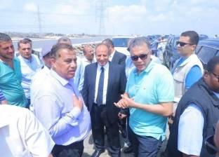 """صور  وزير النقل يتابع محاور غرب الإسكندرية: تنفيذ 70% من """"برج العرب"""""""