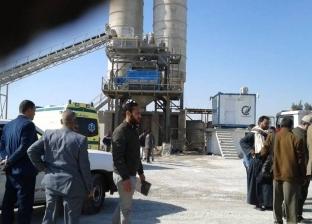 مصرع عامل وإصابة آخر بمحطة خرسانة المطمر في أسيوط