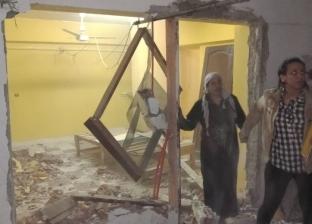 بالصور| حملة لتنفيذ قرارات إزالة لمخالفات بناء بنطاق حي النزهة