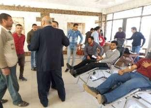 """طلاب """"أصول الدين"""" بالزقازيق يشاركون في حملة للتبرع بالدم لجنود سيناء"""