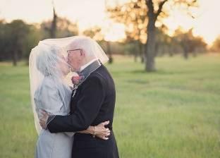 بالصور| زوج يعيد حفل الزفاف بعد مرور 70 عاما