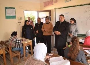 نائب محافظ الوادي الجديد تتفقد لجان امتحانات الشهادة الإعدادية