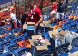 على غرار كأس العالم.. مصريون ينظفون الاستاد عقب افتتاح أمم أفريقيا