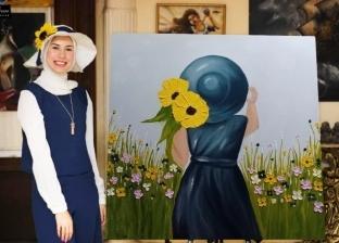 «نور».. حكاية رسامة بدأت بالدراسات الإسلامية حتى وصلت للفنون الجميلة