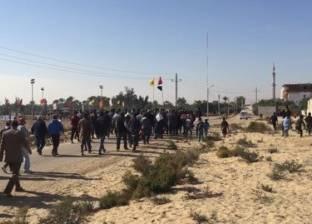 """""""ماراثون"""" يطوف شوارع قرية الروضة بشمال سيناء: لا للإرهاب"""