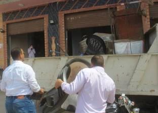 حملة  لإزالة إشغالات الطريق العام وسط الإسكندرية