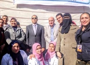 """""""تمريض دمنهور"""" تنظم قافلة طبية بقرية الكنايس للتوعية بسرطان الثدي"""