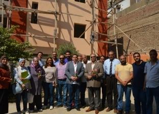 بالصور| أمين عام جامعة عين شمس تفقد سكن الطالبات المغتربات