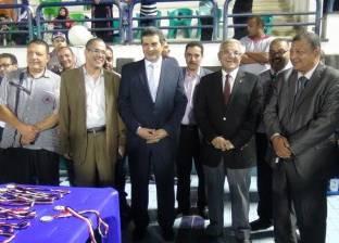 رئيس جامعة المنيا يحضر مهرجانا لاستقبال طلاب الصيدلة الجدد