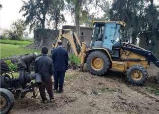حملة مكبرة لإزالة تعديات على الأراضي الزراعية في دمياط