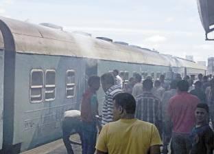 """السيطرة على حريق بجرار قطار """"منوف – طنطا"""" بمحطة شبين الكوم بالمنوفية"""