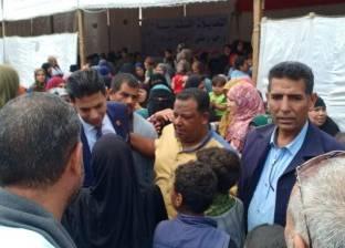 بالصور| تزاحم المواطنين بلجان أبو رواش في كرداسة
