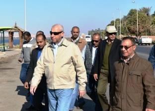 توجيهات صارمة من محافظ أسوان بسرعة إنهاء أعمال رفع كفاءة طريق الكورنيش الجديد