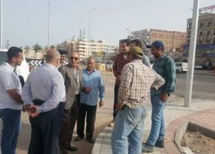 محافظ البحر الأحمر يتابع أعمال التطوير بطريق النصر بالغردقة