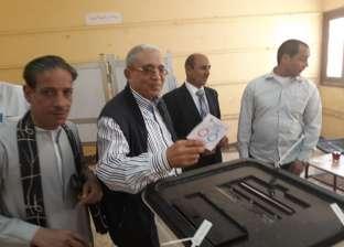 """أمين """"مستقبل وطن"""" بأسيوط يدلي بصوته في الاستفتاء"""