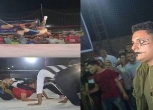 بالصور  موجة من الجدل بعد انتشار «المصارعة الحرة» في مصر