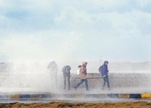 """الطقس غير مستقر من الغد للجمعة.. و""""الأرصاد"""" تعلن أماكن سقوط السيول"""