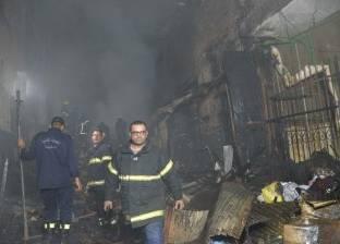 حريق هائل في مصنع تعبئة زيوت بمنطقة جمصة الصناعية