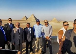 رئيس دولة موزمبيق في زيارة لمنطقة الأهرامات