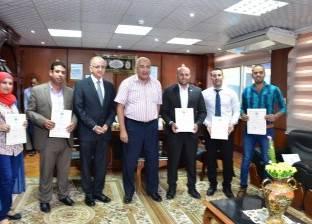 رئيس جامعة مدينة السادات يكرم الحاصلين على أفضل رسالة دكتوراه وماجستير