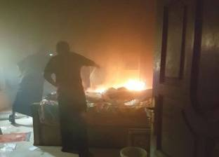 قوات الحماية المدنية تسيطر على حريق شونة الكتان في الغربية