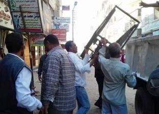 تحرير 300 مخالفة إشغالات ومرافق و68 قضية تموينية بشوارع الغربية