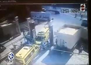 """فيديو.. سيارة إسعاف تدهس مواطنا أمام بوابة """"طوارئ كفر سعد"""""""