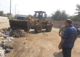 حملات نظافة ورصف طرق بإحدى قرى المنيا