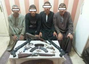"""""""أمن أسيوط"""" يضبط 4 أشخاص بحوزتهم أسلحة نارية غير مرخصة"""