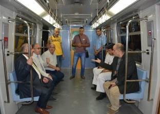 رئيس مترو الأنفاق والعضو المنتدب يتفقدان محطات الخط الثالث