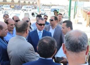 الانتهاء من إنشاء بوابة لمرور سيارات النقل الثقيل بكفر الشيخ