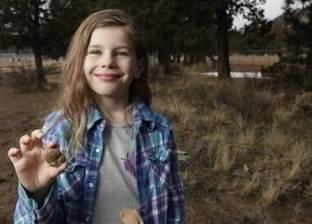 """طفلة تعثر على """"أحفورية"""" عمرها 65 مليون سنة"""