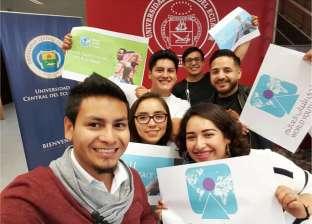بالصور| أعضاء حملة التسويق الدولية يروجون لمنتدى شباب العالم بالإكوادور