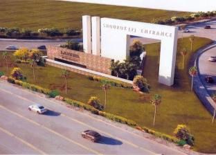 بدء تجميل مدخل مدينة الشروق على طريق القاهرة السويس الصحراوي