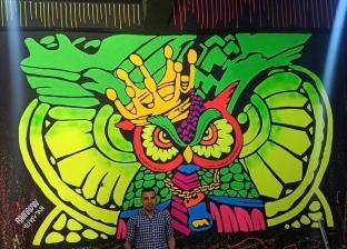 «رمضان» يحول حوائط المنيا للوحات جرافيتي مبهرة: حب الرسم وباع الهندسة