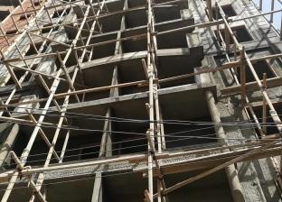 إصابة نقاش سقط من الطابق الـ13 في المنيا