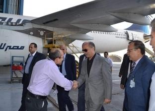 وزير الطيران يتفقد استعدادات مطار شرم لاستقبال ضيوف منتدى شباب العالم