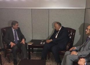 """شكري: مصر مهتمة بربط ميناء جوادر وقناة السويس في إطار مشروعات """"سيبك"""""""