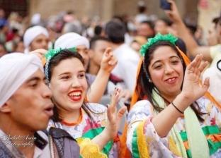 كرنفال فني تراثي من فرقة نجوم القاهرة في ختام مهرجان الطبول بالقلعة