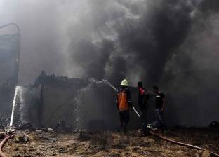 إصابة عامل في حريق مصنع غزل ونسيج في جمصة