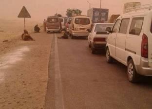 فتح الطرق الصحراوية في المنيا بعد انتهاء العاصفة الترابية