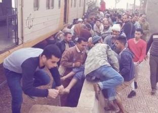 تشكيل فريق من النيابة لمعاينة موقع حادث تصادم قطار وجرار في الغربية