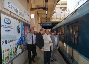 رئيس مترو الأنفاق يتفقد إنشاء المنافذ الجديدة لصرف التذاكر في المحطات