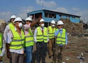 بالصور| نائب محافظ الإسماعيلية يتفقد مصنع تدوير القمامة والمخلفات